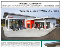 Výstavba prodejny a servisu motocyklů YAMAHA