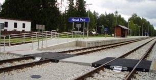 ŽST Nová Pec - TSO staničních kolejí a výhybek