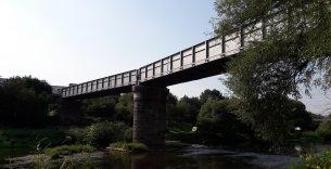 Zvýšení traťové rychlosti Beroun - Rakovník, SO 201 most Křivoklát