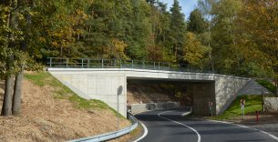 Rekonstrukce mostu v km 48,927 trati Mariánské Lázně - Karlovy Vary